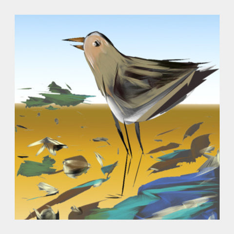 beach bird Square Art Prints | Artist : amit kumar