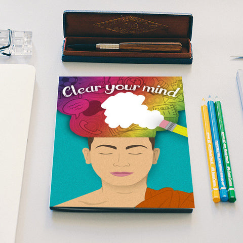 Clear your mind Notebook | Artist : Aradhana Chand