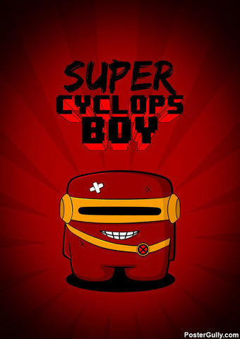 Brand New Designs, Super Cyclops Boy Artwork | Artist: Rigved Sathe, - PosterGully - 1