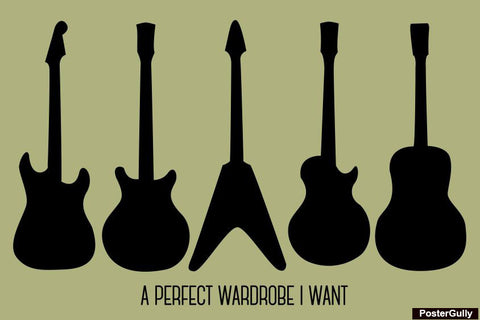 Wall Art, Perfect Wardrobe! #Guitarlove Artwork | Artist: Simran Anand, - PosterGully - 1