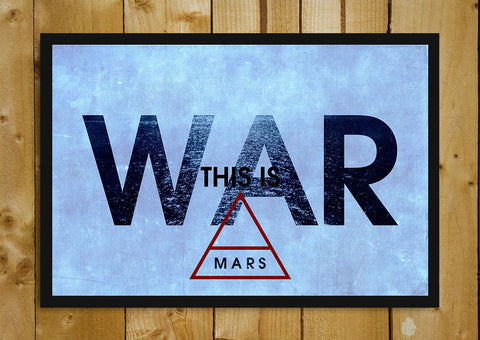 Glass Framed Posters, 30 Second To Mars War Glass Framed Poster, - PosterGully - 1