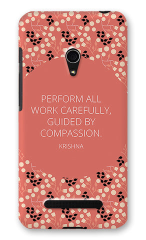 Work Carefully Quote Krishna Bhagavad Gita | Asus Zenfone 5 Cases