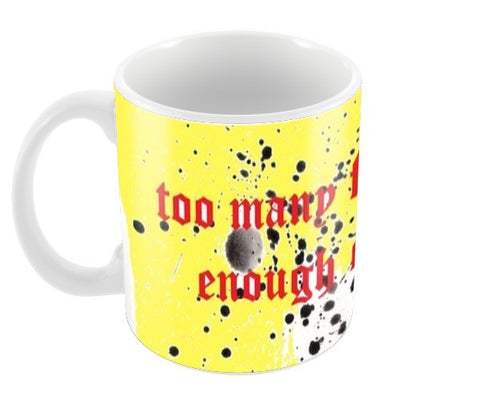 sarcasm quote yellow Coffee Mugs | Artist : Megha Vohra