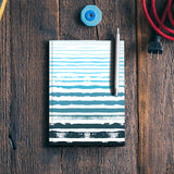Uneven Blue Stripes Notebook | Artist : Amantrika Saraogi
