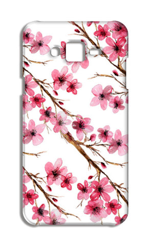Pretty Pink Spring Cherry Blossom Watercolor Floral Design Samsung Galaxy J7 Cases | Artist : Seema Hooda