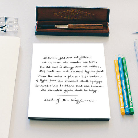 Lord of the Rings Hand Calligraphy Notebook | Artist : Shubhangni Gupta
