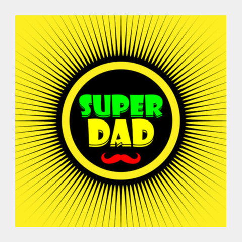 Superdad And Yellow Background Square Art Prints PosterGully Specials