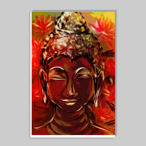 BUDDHA Buddhism teaches people that the real source of happiness is inner peace Stick Ons | Artist : amit kumar