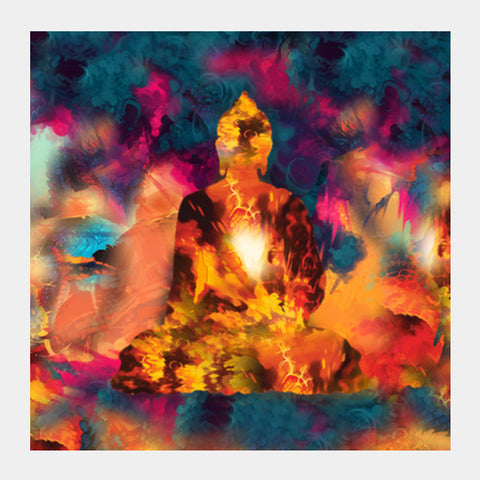 Buddha Square Art Prints | Artist : Tiny Dots