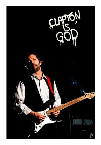 Eric Clapton God  Wall Art | Artist : Jason Ferrao