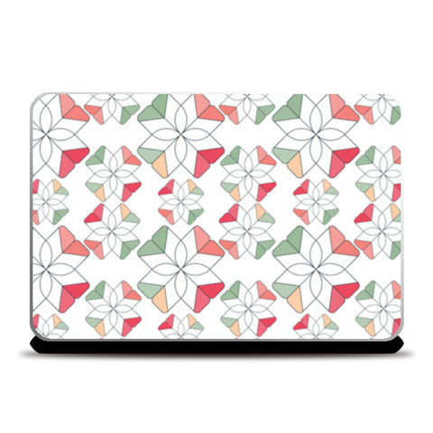 Flowers Retro Shapes Geometric Pattern Laptop Skins | Artist : Designerchennai