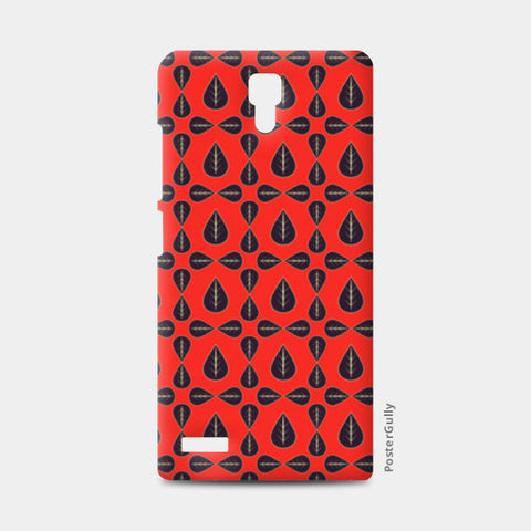 Seamless pattern with leaves on red background Redmi Note Cases | Artist : Designerchennai
