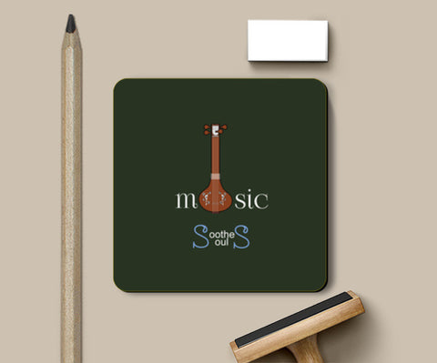 Coasters, Music Soothes Souls Coasters | Artist : Kavin Natarajan, - PosterGully