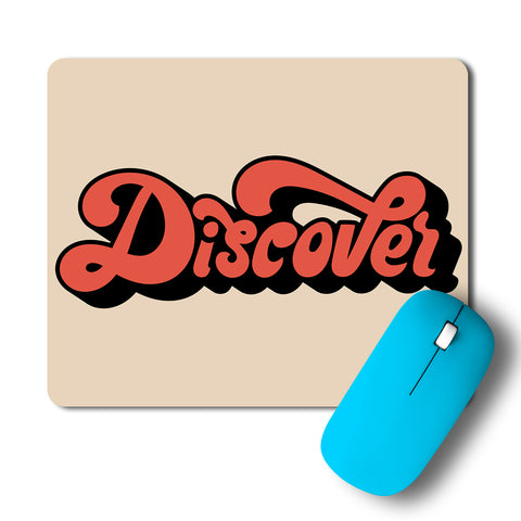 Discover Minimal Typography Artwork Mousepad