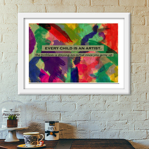 Every child is an artist Premium Italian Wooden Frames | Artist : Surabhi Purwar