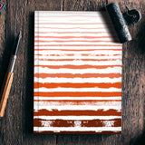 Uneven Orange Stripes Notebook | Artist : Amantrika Saraogi