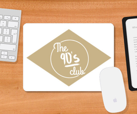 The 90's Club Retro Mousepad | Artist : Tushar Gupta