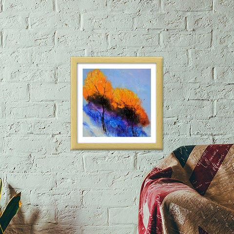 Two magic trees Premium Square Italian Wooden Frames | Artist : pol ledent