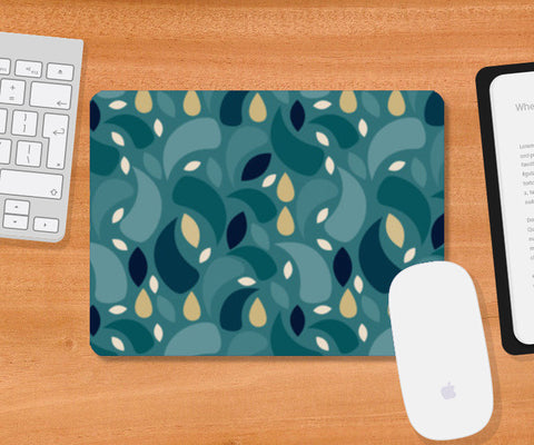 Geometric leaf  shapes seamless pattern Mousepad | Artist : Designerchennai