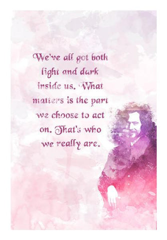 PosterGully Specials, Harry Potter-Sirius Black quote potrait Wall Art | Artist : Naeema Rezmin, - PosterGully