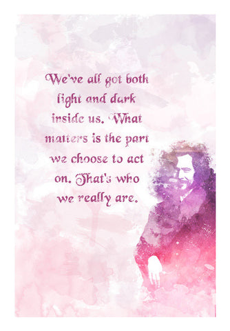 Harry Potter-Sirius Black quote potrait Wall Art | Artist : Naeema Rezmin