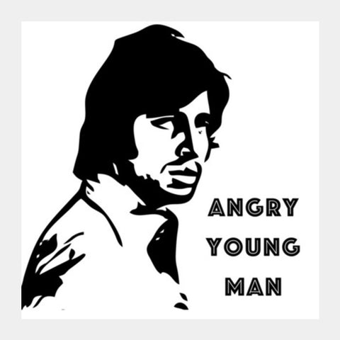 Square Art Prints, Amitabh Square Art Prints | Artist : Delusion, - PosterGully