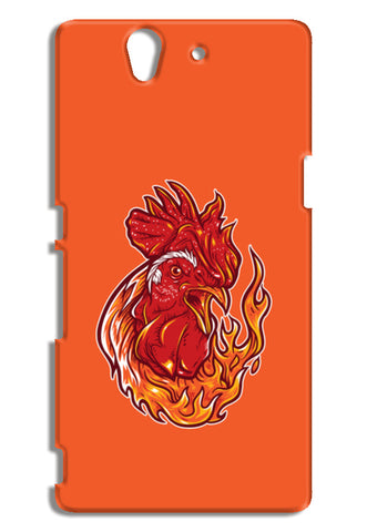 Rooster On Fire Sony Xperia Z Cases | Artist : Inderpreet Singh