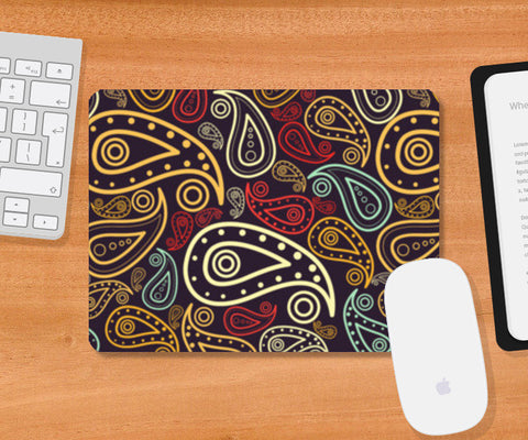 Abstract hand drawn floral illustration on multicolors Mousepad | Artist : Designerchennai