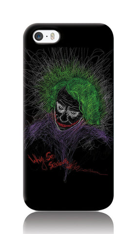 iPhone Cases, Joker Why So Serious iPhone 5/5S Case | Artist: Jaydhrit Sur, - PosterGully