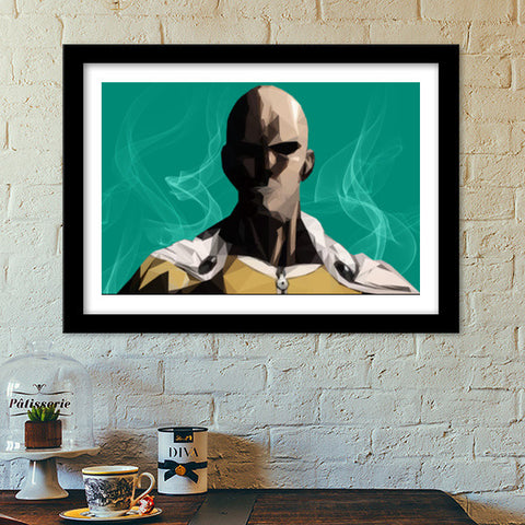 Premium Italian Wooden Frames, One Punch Man Premium Italian Wooden Frames | Artist : Shashanka Beshra, - PosterGully - 1