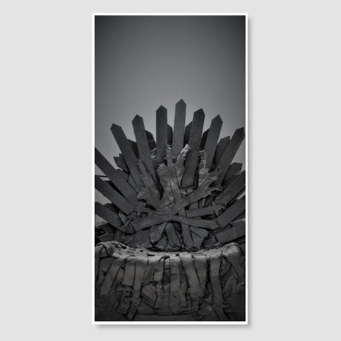 Iron Throne | Clay Art | Photograph Door Poster | Artist : Nandini Rawat