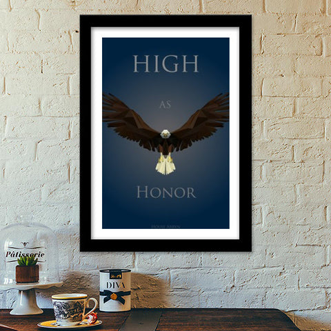 Premium Italian Wooden Frames, Game OF Thrones House Arryn Premium Italian Wooden Frames | Artist : Vedant Sharma, - PosterGully - 1