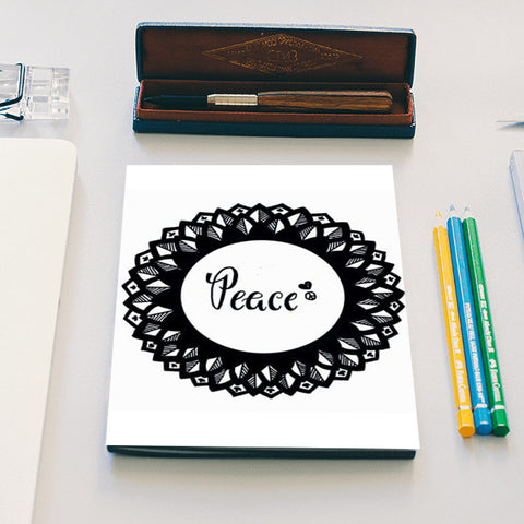 peace out Notebook | Artist : The Doodler dentist