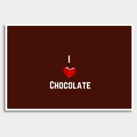 I love chocolate Giant Poster | Artist : Pallavi Rawal