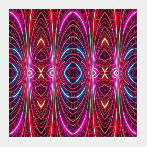 Fractal Abstract Colorful Lines Digital Futuristic Art Background  Square Art Prints PosterGully Specials