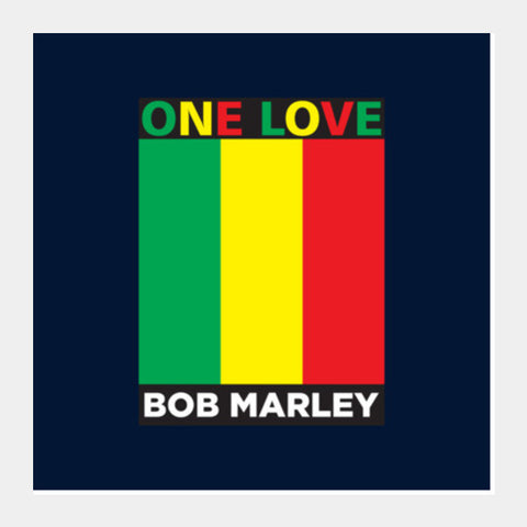 One Love Bob Marley Square Art Prints PosterGully Specials