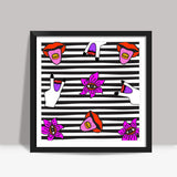Get Psyched Square Art Prints | Artist : Aam Papad
