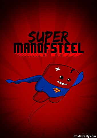 Wall Art, Super Man Of Steel Artwork | Artist: Rigved Sathe, - PosterGully - 1