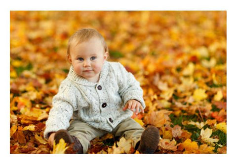 Baby In Autumn  Wall Art PosterGully Specials