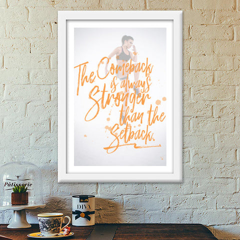 Stay Strong Premium Italian Wooden Frames | Artist : Arcenbeat