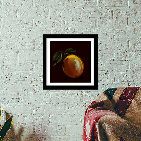 lemon orange Premium Square Italian Wooden Frames | Artist : amit kumar