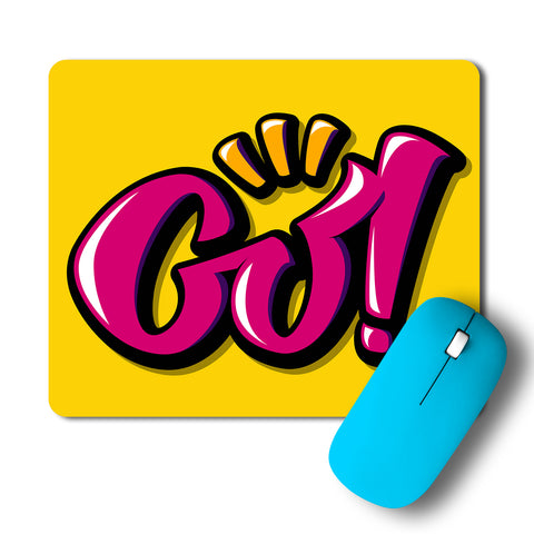Go Minimal Artwork Mousepad