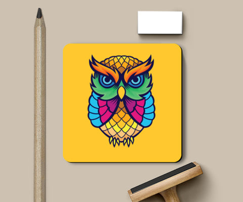 Colorful Owl Coasters | Artist : Inderpreet Singh