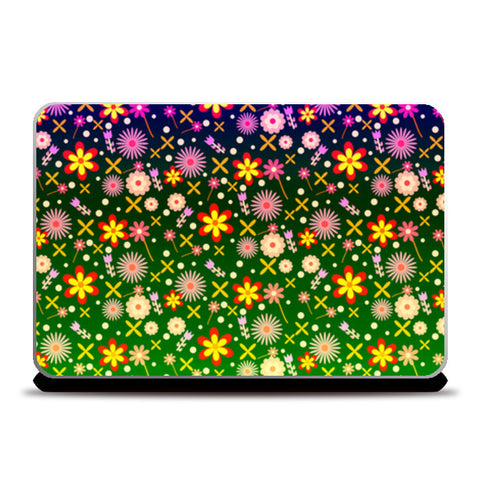 Colorful Flowers Laptop Skins | Artist : Design_Dazzlers
