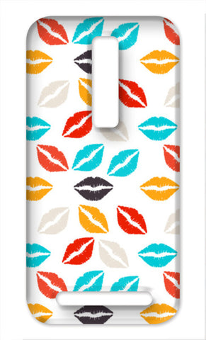glamour fashion lips pattern Asus Zenfone 2 Cases | Artist : Designerchennai