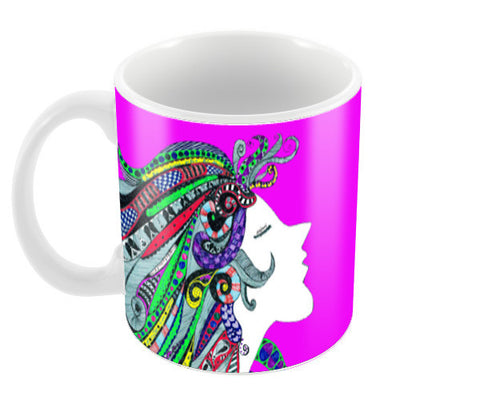 Girl in Song (pink) Coffee Mugs | Artist : Anjuri Jain