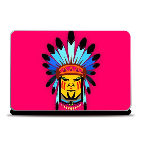Laptop Skins, Tribal man Laptop Skin | Artist: Devina Jain, - PosterGully