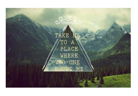PosterGully Specials, TAKE ME TO A PLACE Wall Art  | Artist : Naman Kapoor, - PosterGully