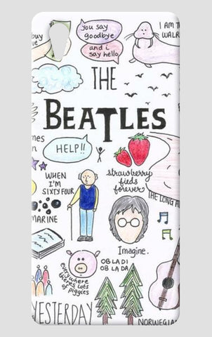 Beatles doodle phone case One Plus X Cases | Artist : Anjali Nilakantan