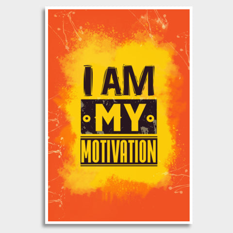 I am My Motivation Giant Poster | Artist : Maninder Singh